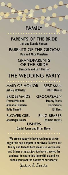 Wedding Program Wedding Programs Order of Service by themunch