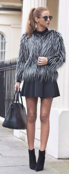 Faux Fur Jacket Chic Style by Nada Adellè