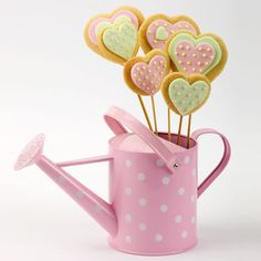 Cookie Bouquets - Flower Cookies. Perfect for Mother's Day or for friends who lovely gardening & cookies!