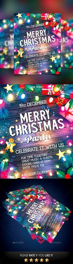 Christmas Flyer Template PSD #design Download: http://graphicriver.net/item/christmas-flyer/13814042?ref=ksioks