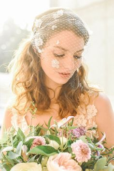Your place to buy and sell all things handmade Flower Veil, Lace Flowers, Ivory Veil, Wedding Veil, Bridal Looks, Vintage Inspired, Trending Outfits, Unique Jewelry, Floral