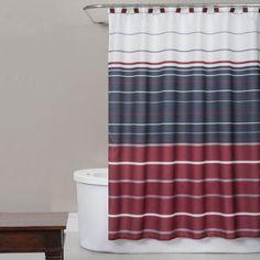 Saturday Knight Evan Stripe Shower Curtain