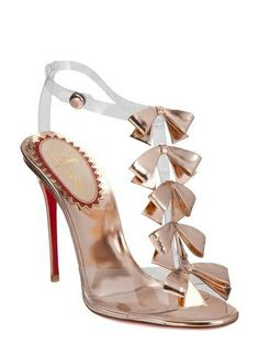 Christian Louboutin rose gold sandals