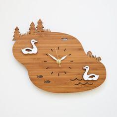 Modern Bamboo Clock - Sheep