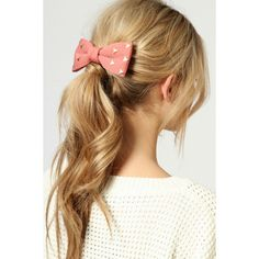 Marina Stud Bow Hair Clip ($12) ❤ liked on Polyvore