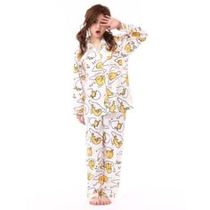 Gudetama-Pijama-En-Marfil-M-l-Kawaii-Nuevo-Sanrio