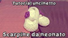 scarpine neonato uncinetto tutorial italiano. Stivaletti Per ... f69efb41b625