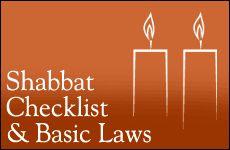 Shabbat Checklist and Basic Laws