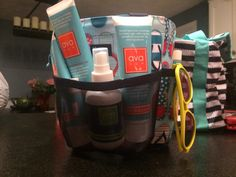 Ava Anderson Non Toxic sunscreen and bug spray in a handy Thirty One caddy. Perfect for summer!  Please visit www.facebook.com/Samantha4AvaA or www.avaandersonnontoxic.com/SamanthaH
