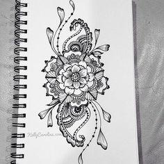 Henna Michigan - Tattoo designs by Kelly Caroline - henna Michigan artist - designs custom tattoos for women Tattoo Henna, Tatto Ink, Tatoo Art, Henna Art, Wrist Tattoo, Mandala Hip Tattoo, Snake Tattoo, Girly Tattoos, Pretty Tattoos