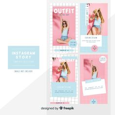 Instagram stories template. Download thousands of free vectors on Freepik, the finder with more than a million free graphic resources Layout Do Instagram, Instagram Design, Instagram Story Template, Instagram Story Ideas, Social Media Poster, Social Media Branding, Social Media Design, Retro Logos, Vintage Logos