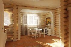 Деревянный дом - Архитектурная студия Понизовкиных - архитектурное проектирование, дизайн интерьеров