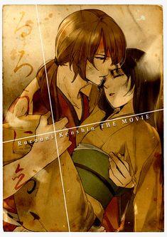 rurouni kenshin, kenshin himura, kaoru kamiya they do look like  cute couple.care for each other!