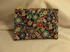 Flowered Zip Pouch by GusandBeckys on Etsy