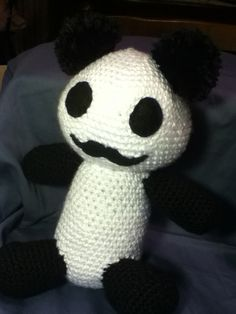 Señor Mustache Panda Plush - Kawaii Amigurumi - Cosplay Prop ( Hetalia, Junjou Romantica , ect). $15.99, via Etsy.