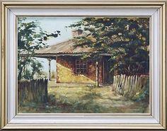 Alfred H. Engel (1941 - ) - Settler's Cottage 46 x 61.5cm