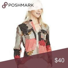 Banana Republic long sleeve floral blouse SZ XS/s NWT. Love this blouse just never reached for it. Purchased it when it first arrived in stores.  It is tagged an XS but will fit a small. Banana Republic Tops Blouses