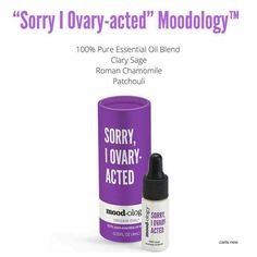 Sorry I Ovary-Acted- 100% Pure Essential Oils Blend (4ml). Seasonal Exclusive Spring 2017. SparkleWithJennifer.OrigamiOwl.com