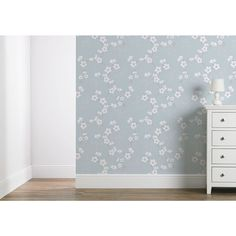 Wilko Wallpaper Cherry Blossom Duck Egg