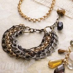 Black Multi-Chain Bracelet | Fashion | Mud Pie