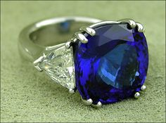 Tanzanite & platinum. Oh the trillion diamonds don't hurt either. I could deal with it. ; )