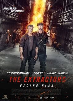 Red & Green Band Trailers For 'Escape Plan The Extractors' Movie Starring Sylvester Stallone, Dave Bautista, & 50 Cent Dave Bautista, Jaime King, Sylvester Stallone, Men In Black, Film D'action, Film Serie, Streaming Vf, Streaming Movies, The Plan