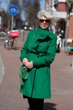 ADVANCED STYLE: A Windy Day in Amsterdam