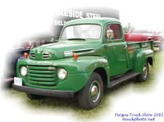 old pickup trucks | Old Green Ford Pick Up Truck at Fergus Truck Show 2011