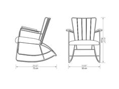 Rocking chair with armrests ROCKER BuzziSpace Legends Collection by Buzzispace.   design Ernest Race