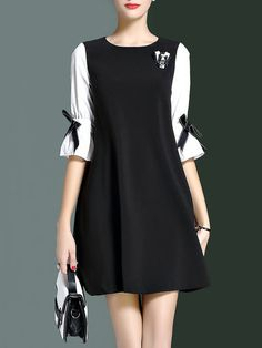 Ideas For Dress Elegant Midi Elegant Midi Dresses, Trendy Dresses, Simple Dresses, Casual Dresses, Short Dresses, Dresses With Sleeves, White Fashion, Girl Fashion, Dress Outfits