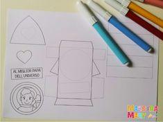 Biglietto per il papà migliore dell'universo | Maestra Mary Legato, Crafts For Kids, Universe, Fathers Day Art, Crafts For Children, Kids Arts And Crafts, Kid Crafts, Craft Kids