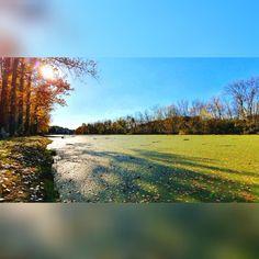 Autumn river, River, Autumn, Sun, Autumn sun, Blue, Sky, Wood, Leaves, Sunshine, Judit Schóber, Schober, Colors Fall River, My Photos, Sunshine, Leaves, Sky, In This Moment, Autumn, Mountains, Colors