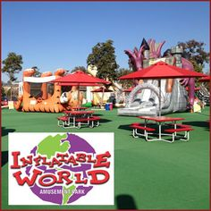 2-for-1 all-day admission to Inflatable World #utdeals #sandiego #missionvalley