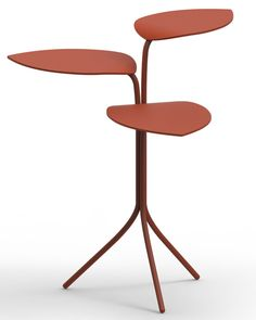 Marc Thorpe's Morning Glory tables in powder-coated welded steel