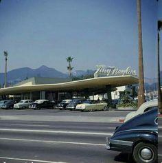 Tiny Naylors, northwest corner of Sunset and La Brea, West Hollywood, 1959.