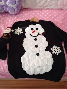 Ugly Christmas Sweater Ideas - Reasons To Skip The Housework Snowman Sweater: If you are attending an ugly Christmas sweater party this year, we have got you covered! Here are 25 Ugly Christmas Sweater Ideas for you to use as inspiration. Kids Ugly Sweater, Ugly Sweater Contest, Diy Ugly Christmas Sweater, Ugly Sweater Party, Christmas Jumpers, Xmas Sweaters, Christmas Snowman, Christmas Outfits, Christmas Diy