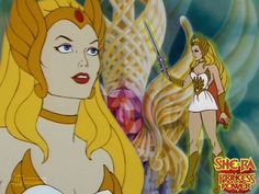 She-Ra, Princess of Power! She was such a badass, with a unicorn Pegasus to boot!