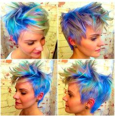 Absolutely beautiful rainbow pixie