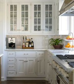 timeless glass front cabinets