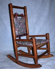 Rocking Chair for Antique Doll