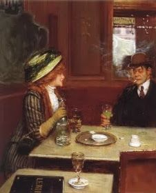 imagen: Jean Béraud Los bebedores de absenta en el arte Clic en imágenes , para ver en grande La absenta fue una bebida de enorme ...