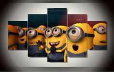 Printed-Painting-Despicable-Me-Minions-Cartoon-painting-5-panels-wall-decor-Canvas-Print-art-F-997_large.jpg (480×305)