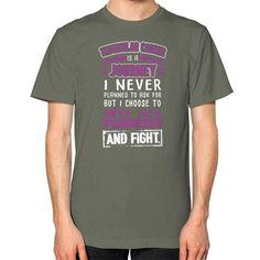 I NEVER TESTICULAR CANCER Unisex T-Shirt (on man)