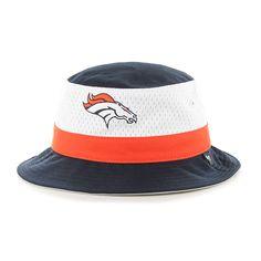 Denver Broncos Double Line Bucket Navy 47 Brand Hat Denver Broncos Hats a4f7a799f