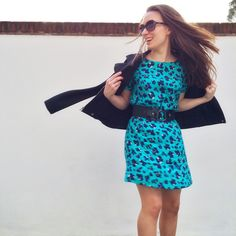 Oliver BONAS tunic dress and my favourite colour for spring! London lifestyle/fashion blogger Lattes & Lipstick