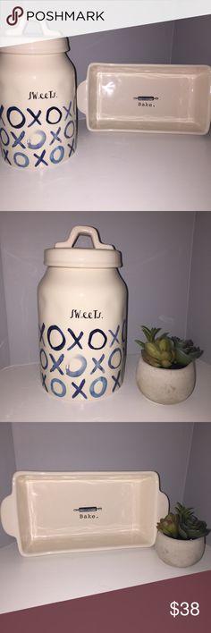 Rae Dunn XoXo Cookie Jar & Bake Tray Rae Dunn XoXo Cookie Jar & Bake Tray Rae Dunn Accessories