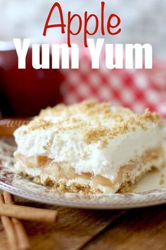 No-Bake Apple Yum Yum - The Country Cook