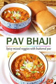 Veg Recipes, Spicy Recipes, Indian Food Recipes, Vegetarian Recipes, Indian Vegetarian Dishes, Tastemade Recipes, Dinner Rolls, Cooking, Pav Bhaji Recipe Video