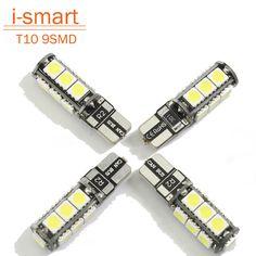 Universal T10 LED reverse light W5W marker lamps 9 5050 SMD automotive led bulb 12V canbus xenon halogen car dashboard
