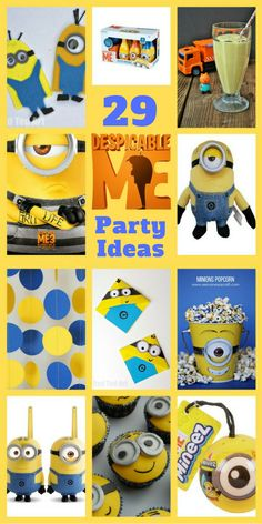 29 of the most fun Despicable Me 3 party ideas including party food, party gifts, party games, party decorations and party crafts. Have a great time!